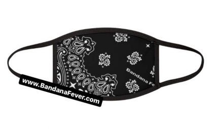 Bandana Fever Black Bandana Custom Face Mask Black at BandanaFever.com