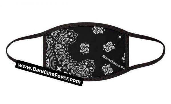Bandana Fever Black Bandana Custom Face Mask Black at BandanaFever.com