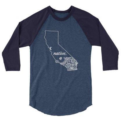 California Native Bandana Print Custom Baseball Shirt by BandanaFever.com
