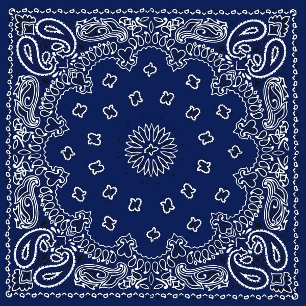 Navy Blue Bandana Scarf at BandanaFever.com