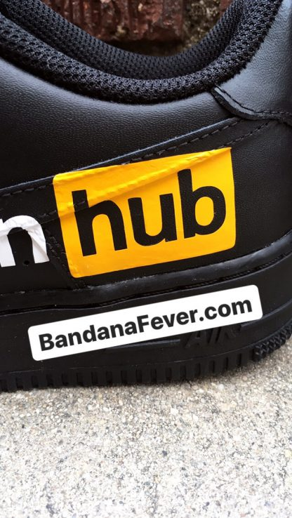 Pornhub Custom Nike Air Force 1 Shoes Black Low Close at BandanaFever.com