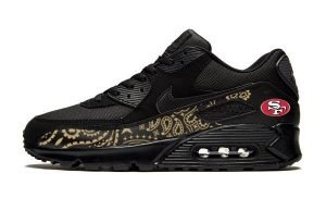 SF 49ers Gold Bandana Custom Nike Air Max Shoes by Bandana Fever