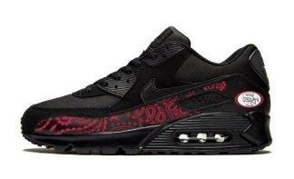 SF 49ers Red Bandana Custom Nike Air Max Shoes by Bandana Fever