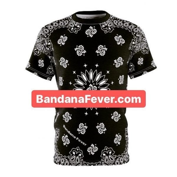 Bandana Fever Black Bandana Custom T-Shirt SS Black by BandanaFever.com