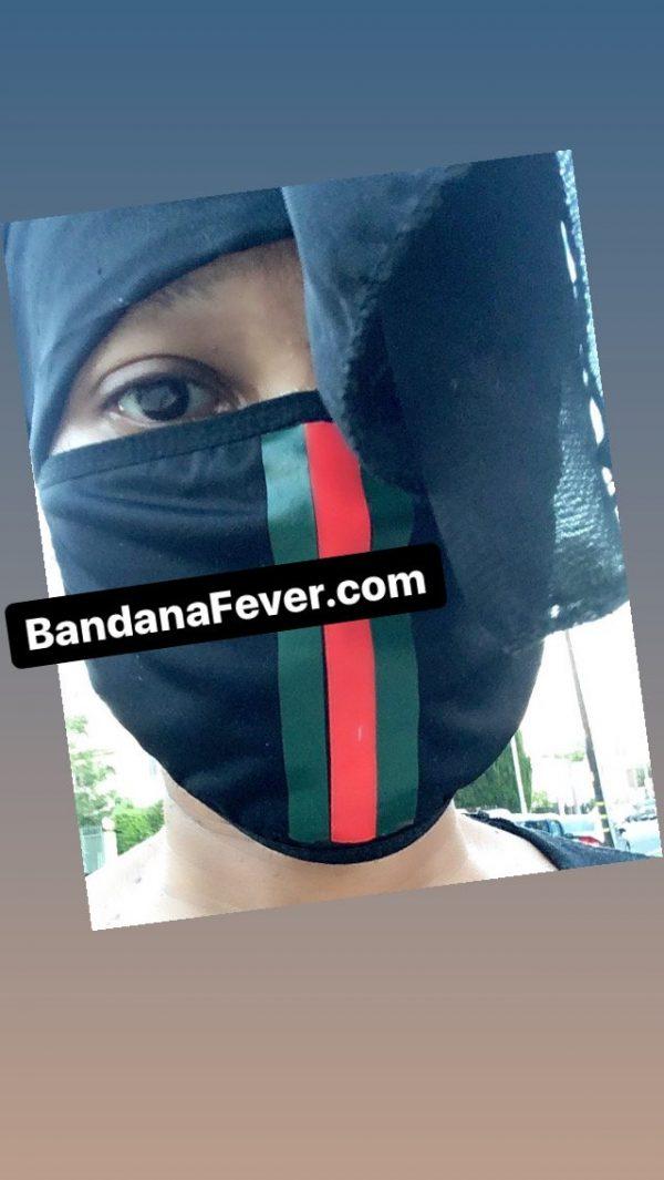 Gucci Custom Face Mask Close by BandanaFever.com