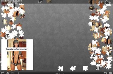 Bandana Model No 8 Jigsaw Puzzle by BandanaFever.com