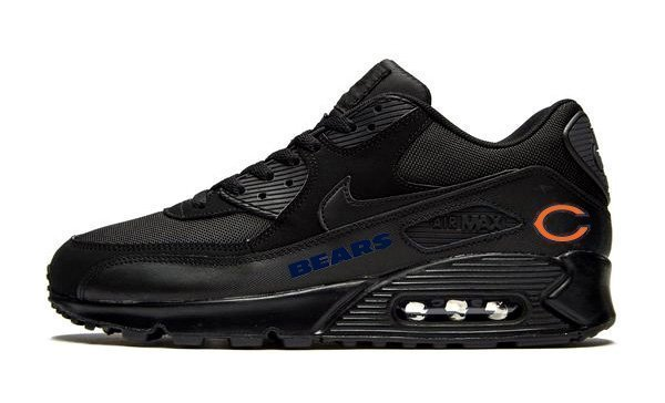 Chicago Bears Nike Air Max 90 Black Shoes by Bandana Fever