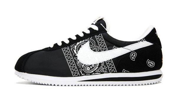 Black Bandana Custom Nike Cortez Shoes by BandanaFever.com