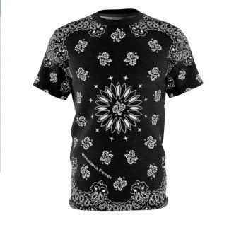 Black Bandana Custom T-Shirt SS Black by BandanaFever.com