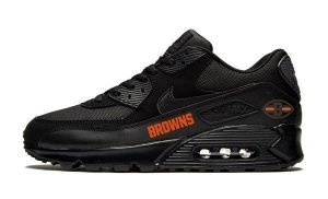 Cleveland Browns Orange Custom Nike Air Max Shoes Black by Bandana Fever