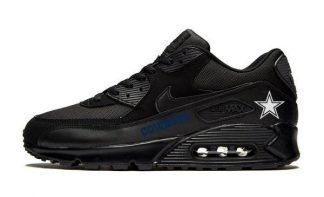 Dallas Cowboys Blue Custom Nike Air Max Shoes Black by Bandana Fever
