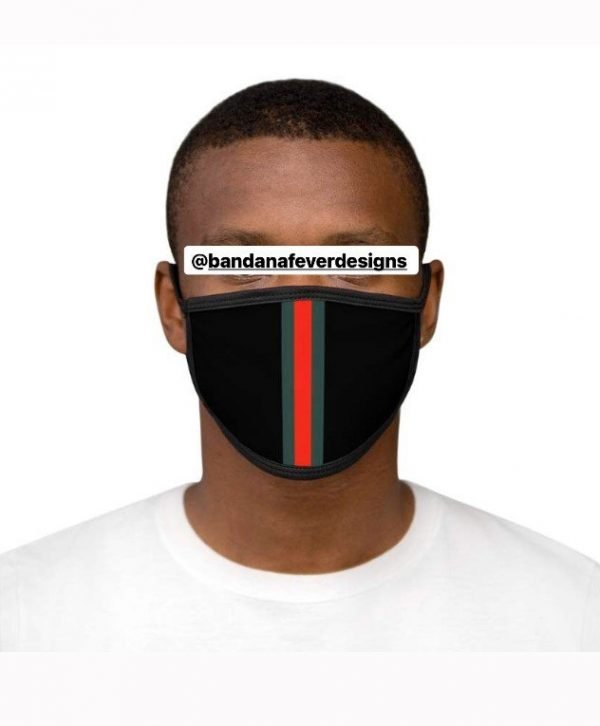 Gucci Custom Face Mask Black Model at BandanaFever.com