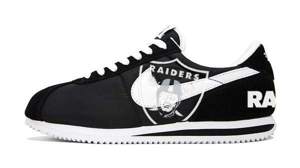 Las Vegas Raiders Custom Nike Cortez Shoes NBW by BandanaFever.com