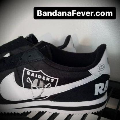 Las Vegas Raiders Custom Nike Cortez Shoes NBW Close at BandanaFever.com