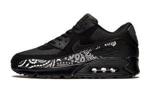 Black Bandana Custom Nike Air Max Shoes Black by BandanaFever.com
