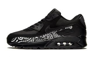 Black Bandana Custom Nike Air Max Shoes Black by BandanaFever.com