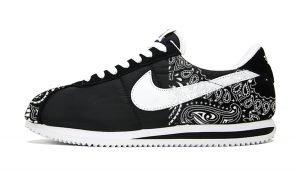 Black Bandana Custom Nike Cortez Shoes NBW Half by BandanaFever.com