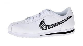 Black Bandana Custom Nike Cortez Shoes Swoosh by BandanaFever.com