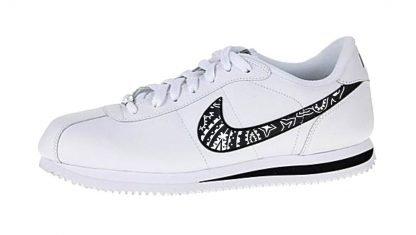 Black Bandana Custom Nike Cortez Shoes Swoosh by BandanaFever.com