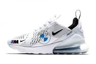 BMW Custom Nike Air Max 270 Shoes White/Black at BandanaFever.com