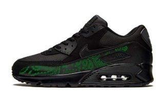 Green Bandana Custom Nike Air Max Shoes Black at BandanaFever.com