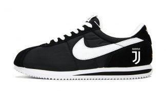 Juventus Custom Nike Cortez Shoes NBW at BandanaFever.com