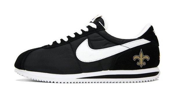 NOLA Saints Custom Nike Cortez Shoes at BandanaFever.com