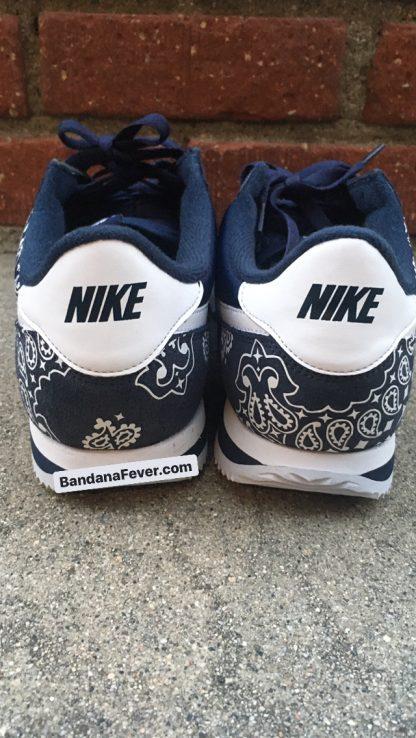 Navy Bandana Custom Nike Cortez Shoes NNW Half Heels at BandanaFever.com