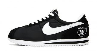 Las Vegas Raiders Mini Custom Nike Cortez Shoes NBW by BandanaFever.com
