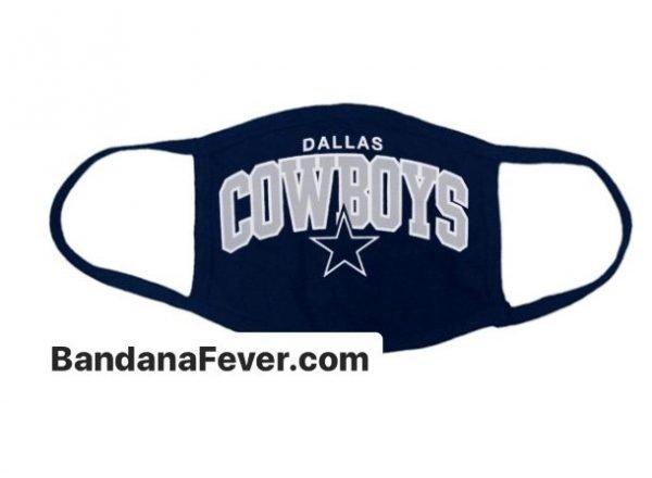 Bandana Fever Dallas Cowboys Custom Face Mask Navy by BandanaFever.com