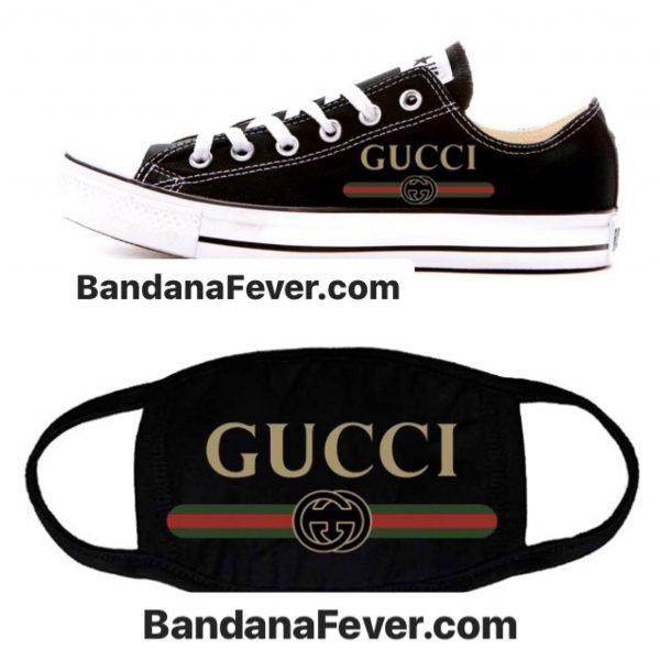 Gucci Retro Custom Face Mask and Custom Converse at BandanaFever.com