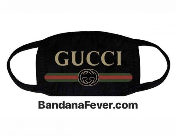 Bandana Fever Gucci Retro Custom Face Mask Black by BandanaFever.com
