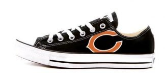 Chicago Bears Custom Converse Shoes Black Low by BandanaFever.com