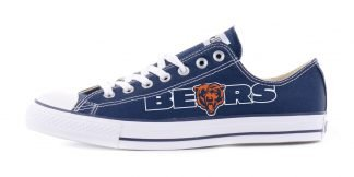 Chicago Bears Custom Converse Shoes Navy by BandanaFever.com