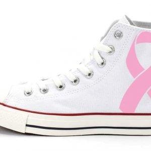 Breast Cancer Awareness Custom Converse Shoes White High by BandanaFever.com