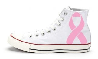 Breast Cancer Awareness Custom Converse Shoes White High by BandanaFever.com