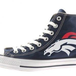 Denver Broncos Custom Converse Shoes Navy Hi at BandanaFever.com