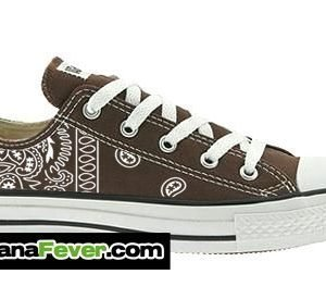 Brown Bandana Custom Converse Shoes Brown Low at BandanaFever.com