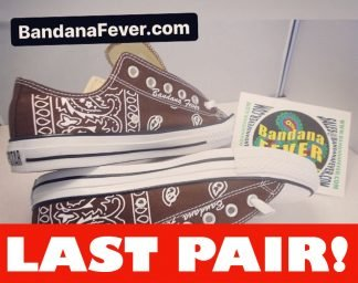 Brown Bandana Custom Converse Shoes Brown Low On Sale at BandanaFever.com