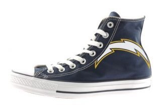 LA Chargers Custom Converse Shoes Navy High by BandanaFever.com