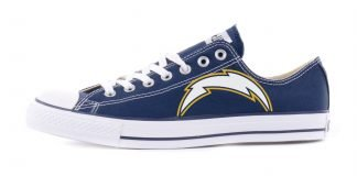 LA Chargers Custom Converse Shoes Navy Low by BandanaFever.com