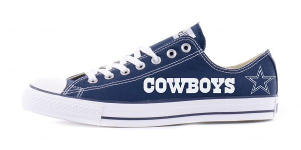 Dallas Cowboys Custom Converse Shoes Navy Low by BandanaFever.com