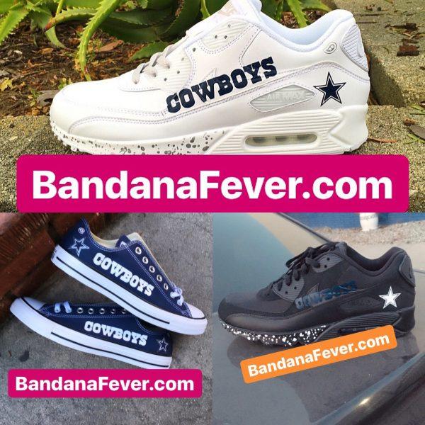Dallas Cowboys Custom Converse Nike Air Max at BandanaFever.com