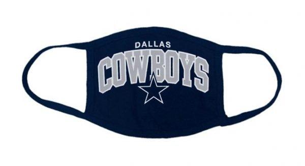 Dallas Cowboys Custom Face Mask Navy by BandanaFever.com
