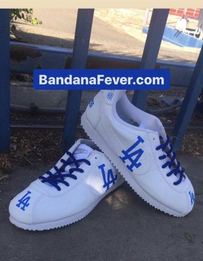 LA Dodgers Custom Nike Cortez Shoes Stagger at BandanaFever.com