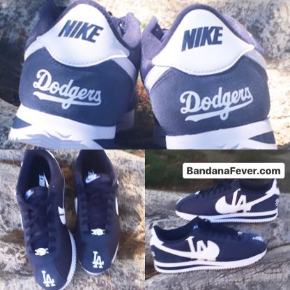 LA Dodgers Custom Nike Cortez Shoes NNW Collage at BandanaFever.com