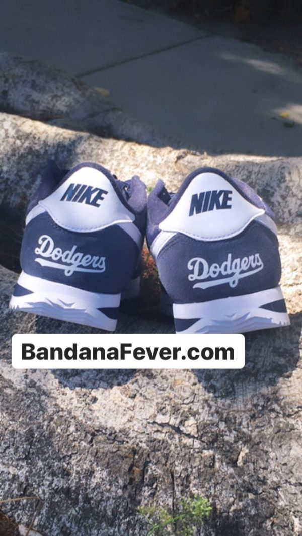 LA Dodgers Custom Nike Cortez Shoes Heels by BandanaFever.com