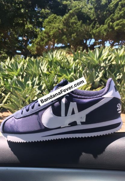 LA Dodgers Custom Nike Cortez Shoes NNW Main at BandanaFever.com