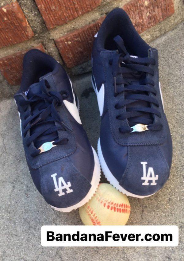 LA Dodgers Custom Nike Cortez Shoes NNW Toes at BandanaFever.com