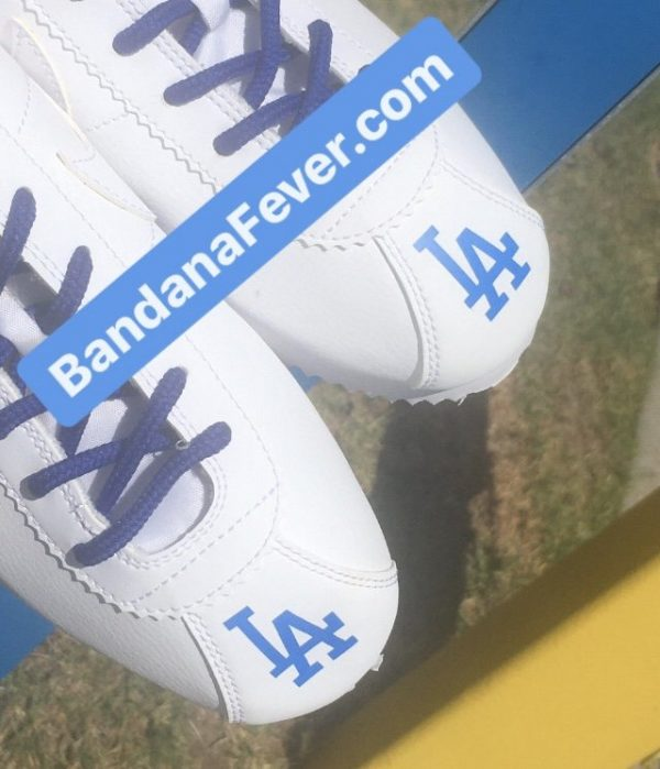 LA Dodgers Custom Nike Cortez Shoes Toes by BandanaFever.com